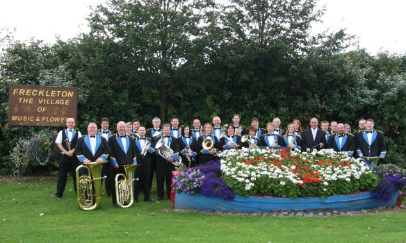 Freckleton Band with Village Sign 2007