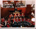 Freckleton Band in the Methodist Chapel in the 1990s
