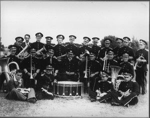 Freckleton Band in the 1940s