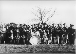 Freckleton Band in the 1950s
