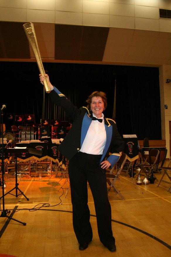 Marge with the Olympic Torch