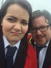 Charlotte and Anthony Roocroft looking a little damp!
