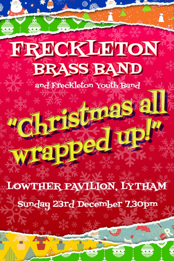 Freckleton Band 2018 Christmas poster for programme